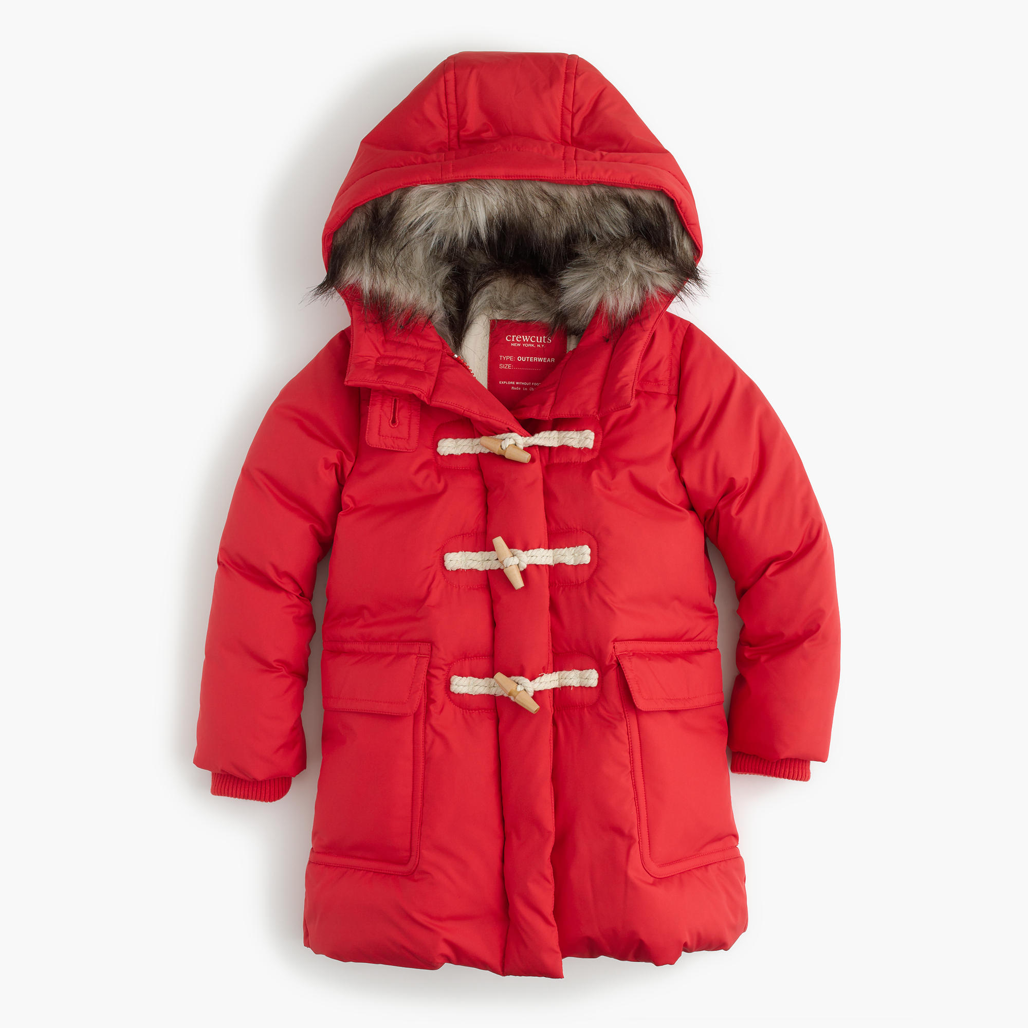 Girls' Toggle Puffer Coat : Girls' Jackets & Coats | J.Crew