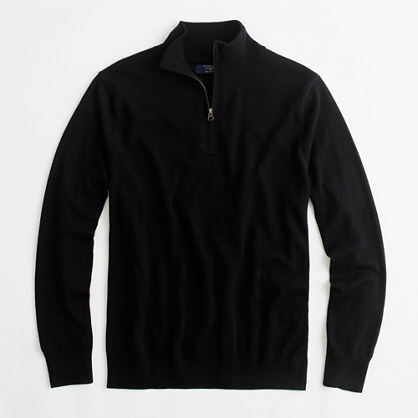 Factory merino half-zip sweater