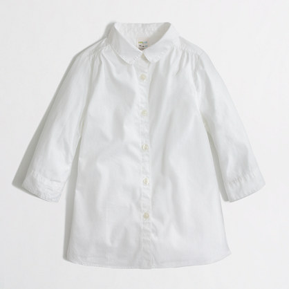 Factory girls' button-down oxford shirt