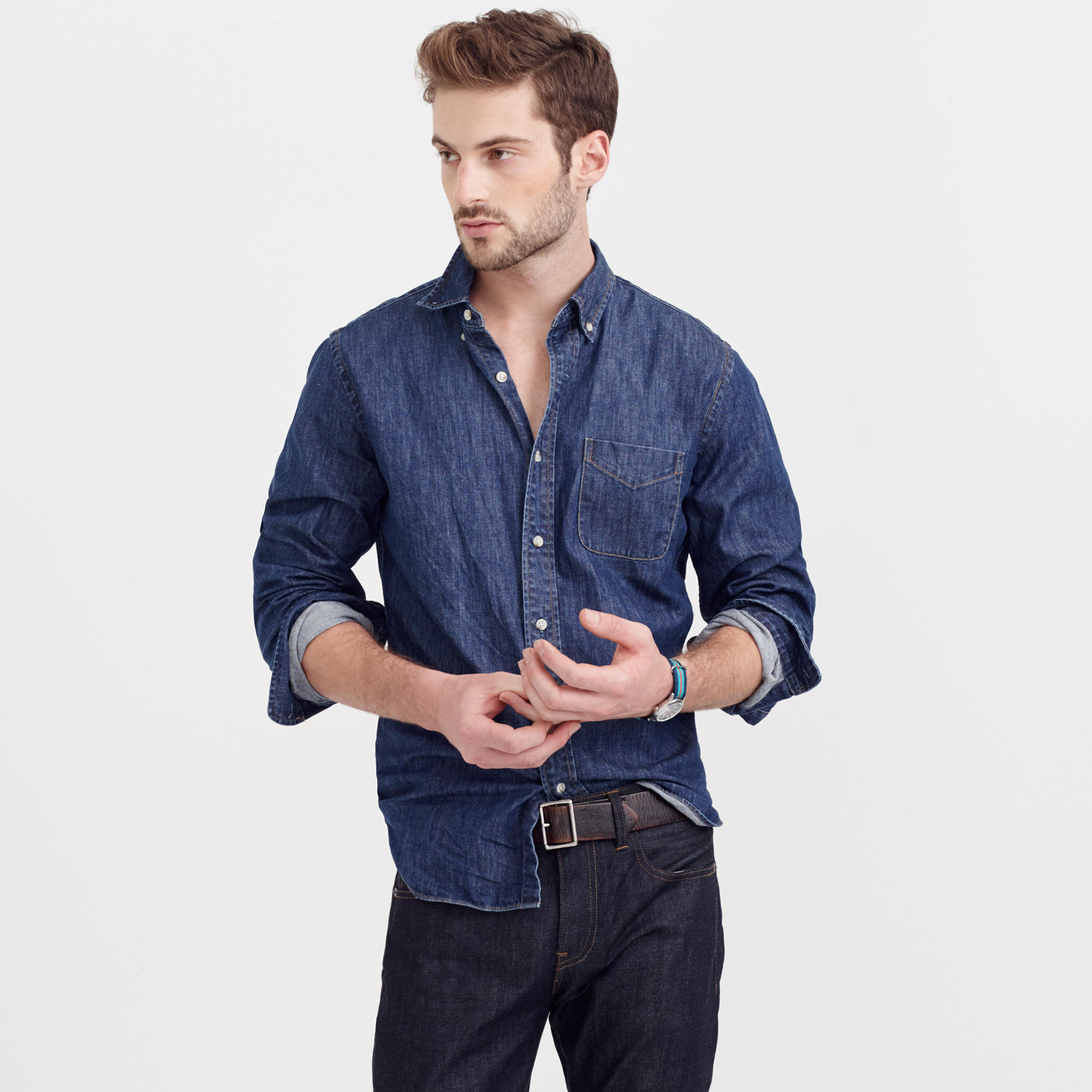 Slim Midweight Denim Shirt : Men's Shirts | J.Crew