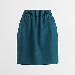 Wool sidewalk skirt