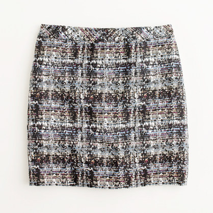 Factory abstract tweed mini