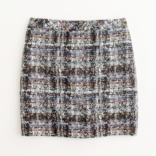 Factory abstract tweed mini