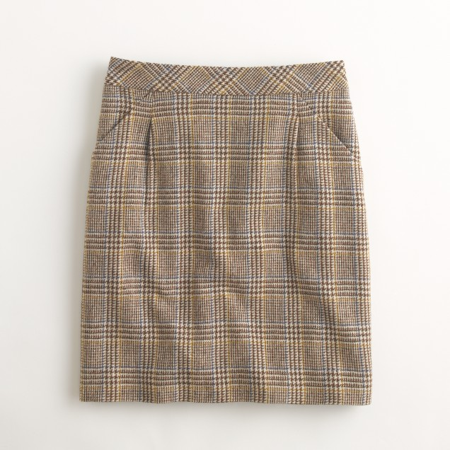 Factory houndstooth pleated mini