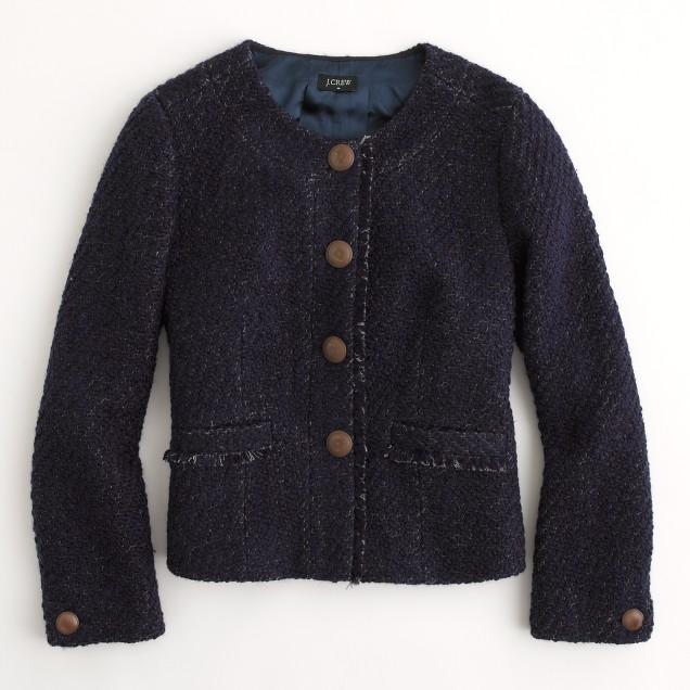 Factory fringed tweed jacket