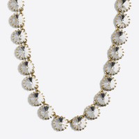 Brass-plated crystal necklace