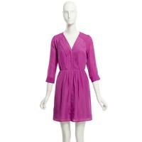 Factory draped pleat-front dress