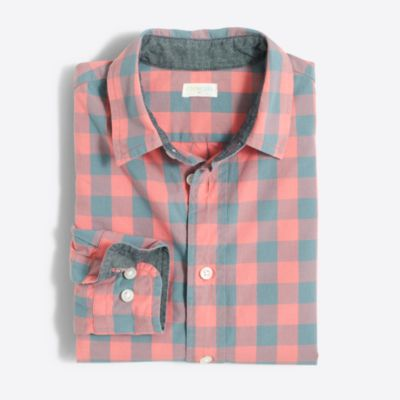 Boys' patterned washed shirt factoryboys shirts c