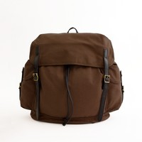Factory canvas backpack