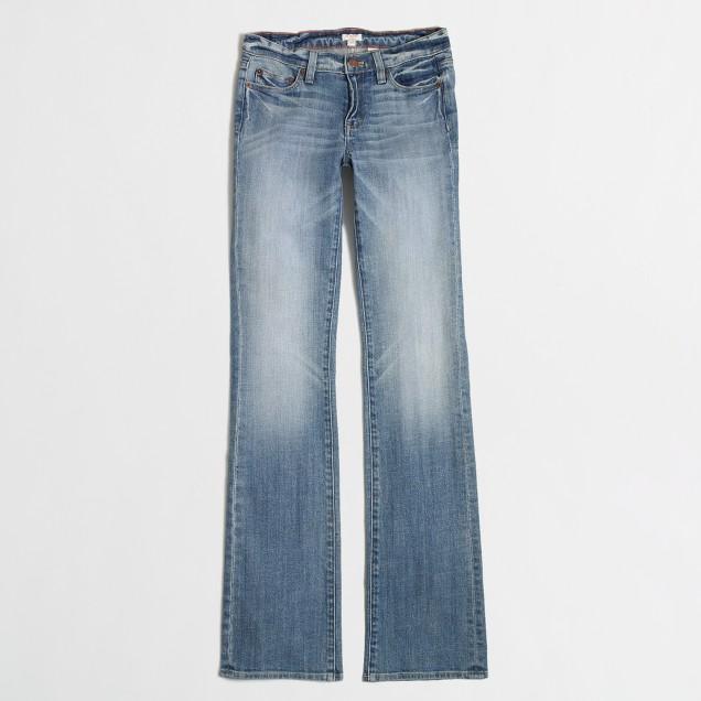 Indigo wash bootcut jean