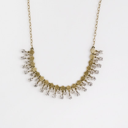 Factory crystal droplet necklace