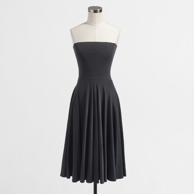 Factory strapless knit dress