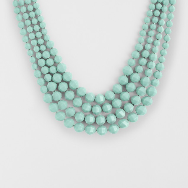 Factory layered bright bead necklace