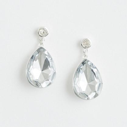 Factory crystal teardrop earrings