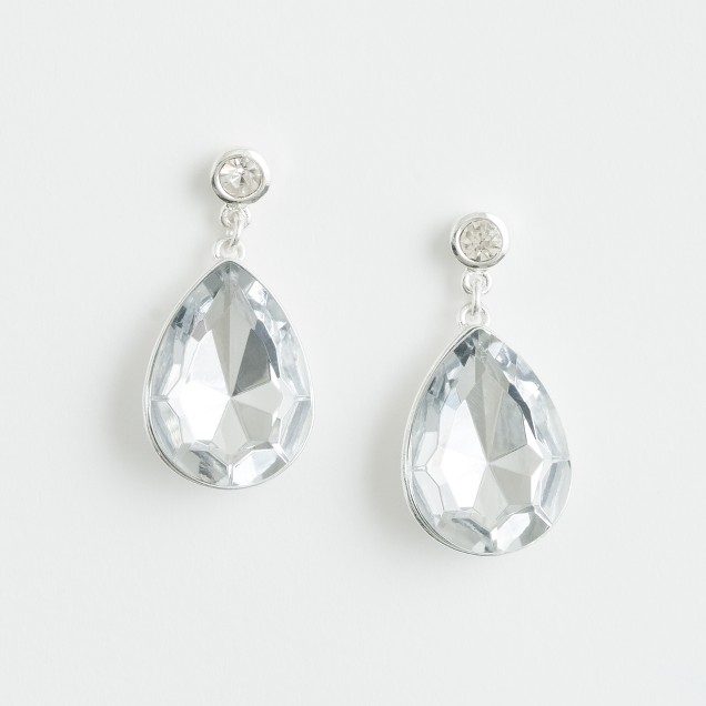 Factory crystal teardrop earrings