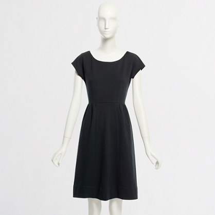 Factory knit cap-sleeve dress