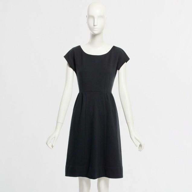 Factory knit cap-sleeve dress