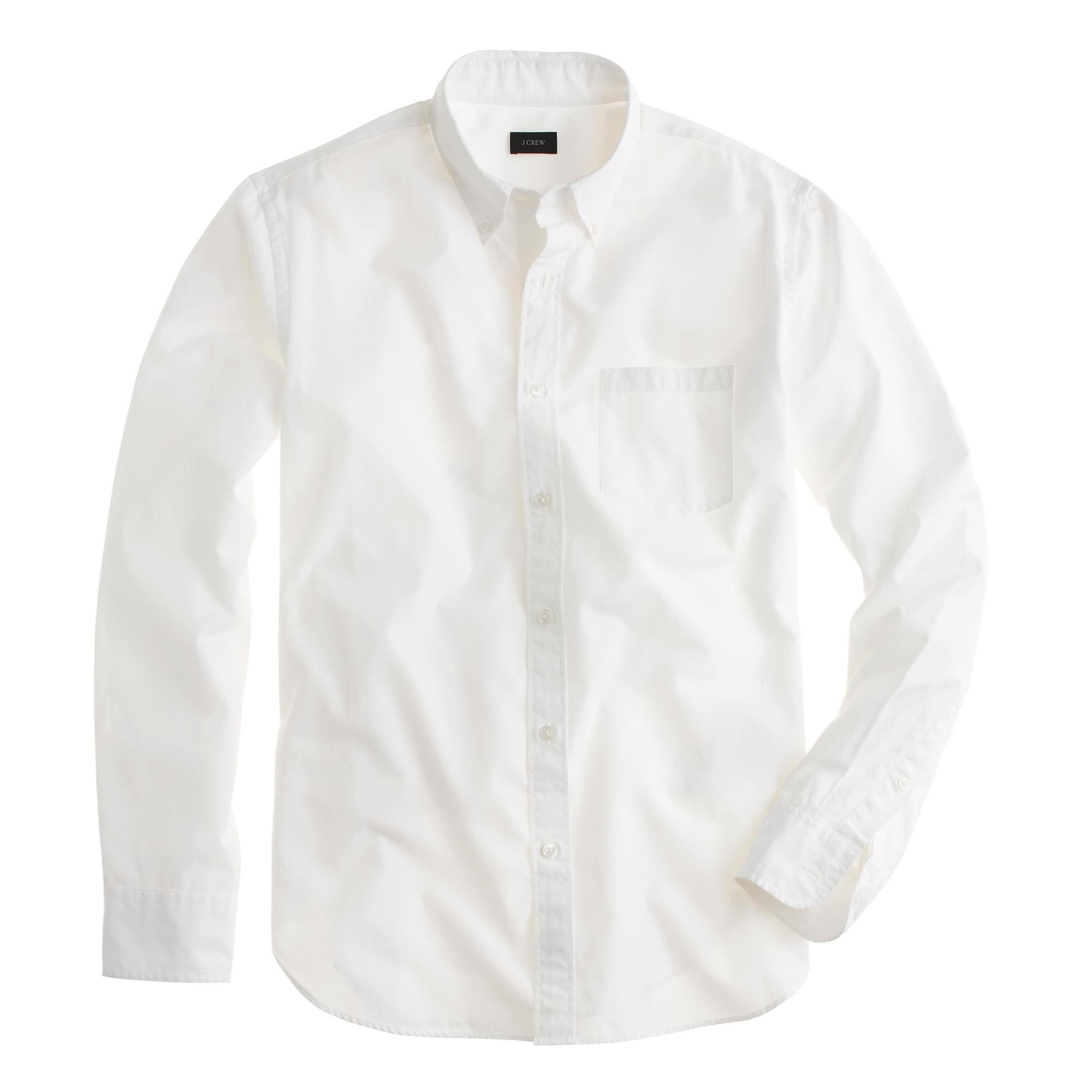 Men's Secret Wash Shirt In White - Men's Woven Shirts