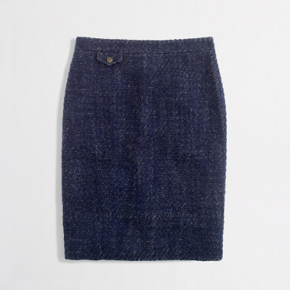 Factory No. 2 pencil skirt in textured tweed