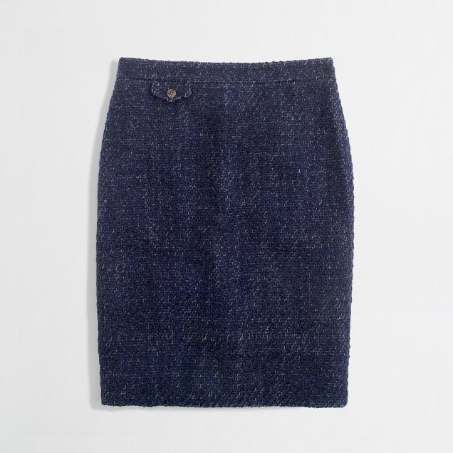 Factory No. 2 pencil skirt in textured tweed