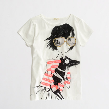 Factory girls' pup love keepsake tee