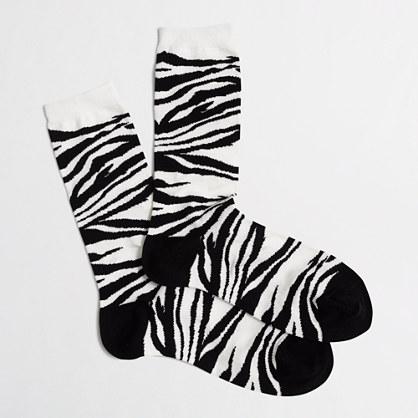 Tiger-striped socks