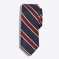Factory silk rugby-striped tie