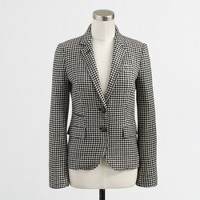 Factory wool houndstooth blazer