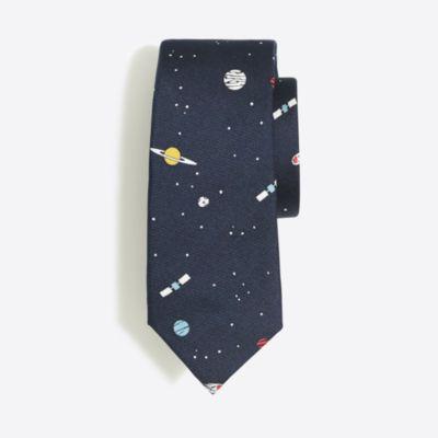 Boys' patterned silk tie