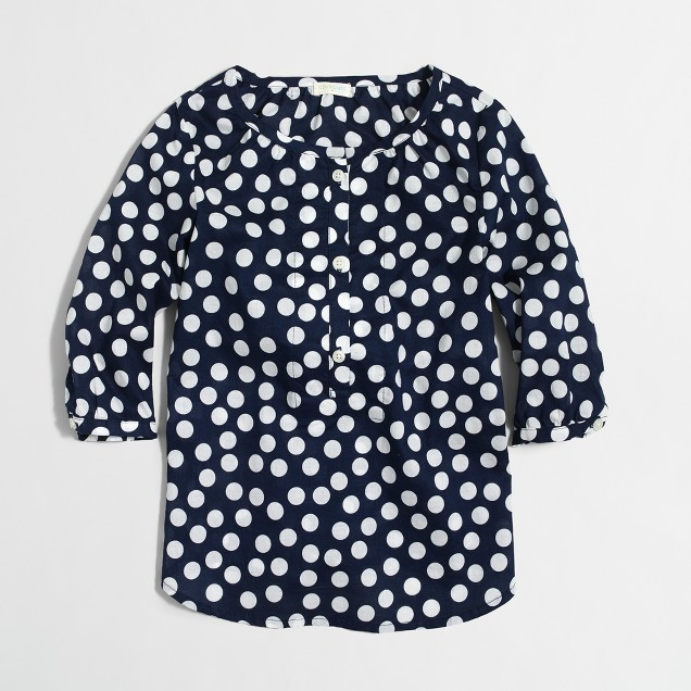 Girls' printed poet blouse