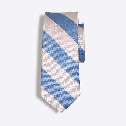 Boys' striped silk tie