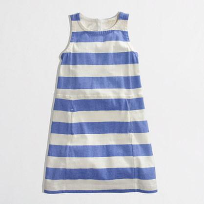 Factory girls' stripe pocket dress