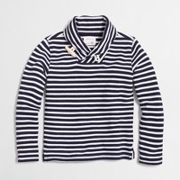 Boys' striped shawl-collar popover sweatshirt