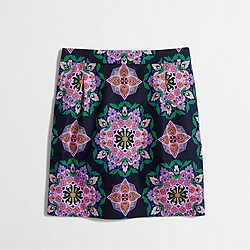 Factory printed basketweave mini skirt