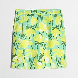 Factory printed basketweave mini skirt