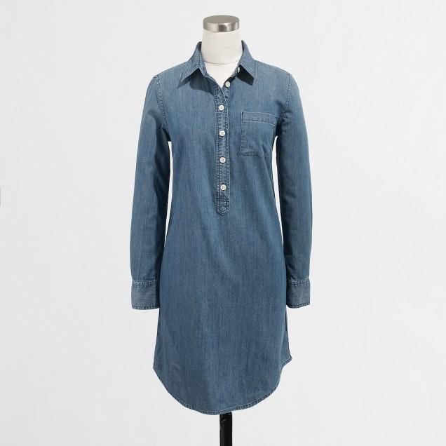 Petite chambray shirtdress