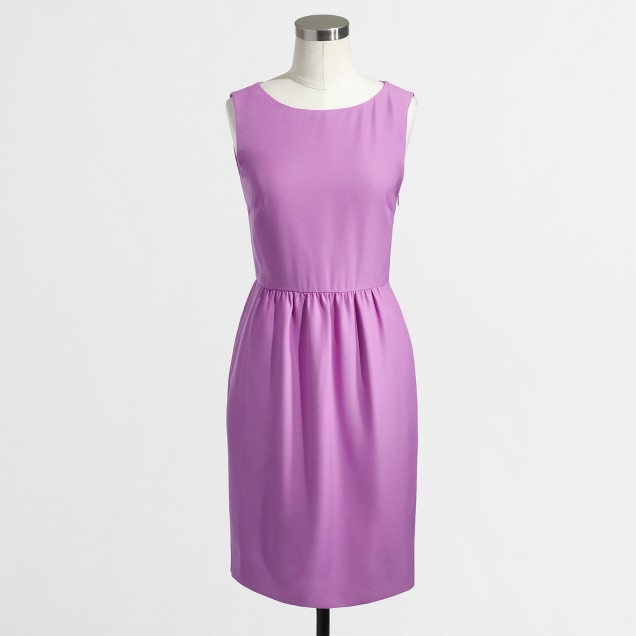 Factory sleeveless ruched dress