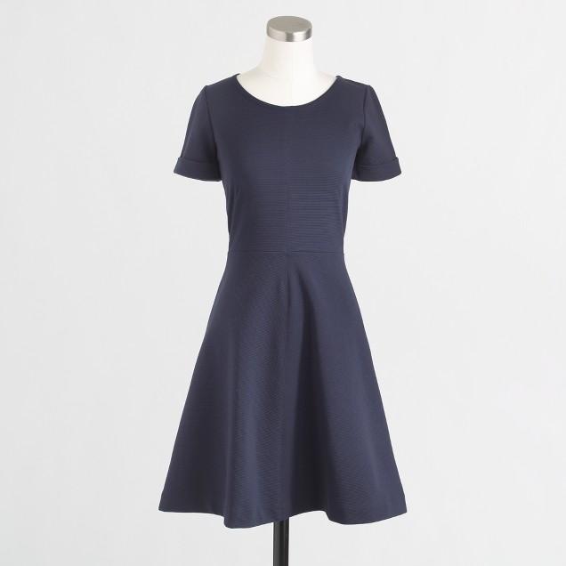 Factory ponte flare dress