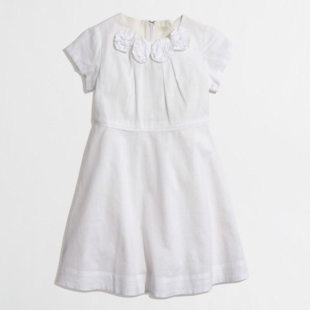 Factory girls' sketched floral dress