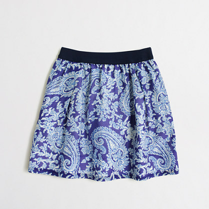 Girls' printed cotton-silk skirt