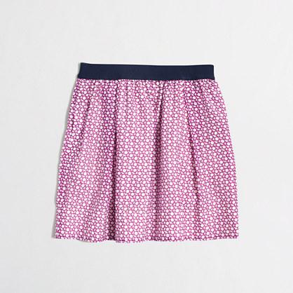 Girls' printed cotton-silk skirt