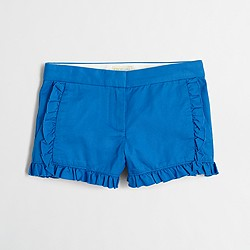 Factory girls' ruffle chino short