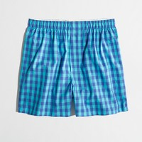 Factory blue-turquoise check boxers