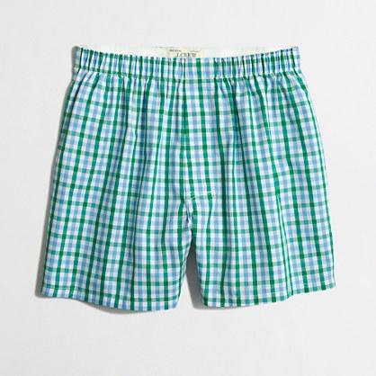 Multicolor check boxers