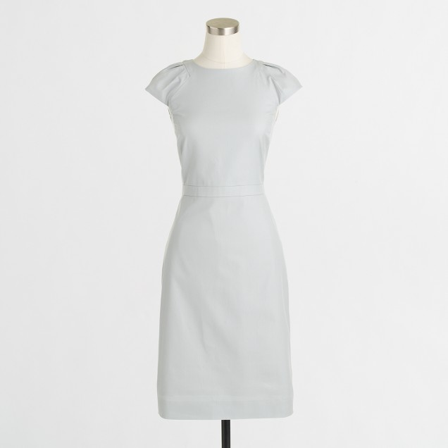 Factory cap-sleeve shift dress in superfine cotton