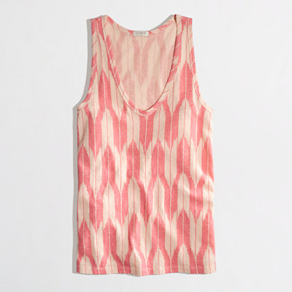 Factory layering tank in ikat