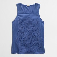 Factory lace-front tank