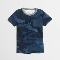 Boys' camo contrast-collar t-SHIRT