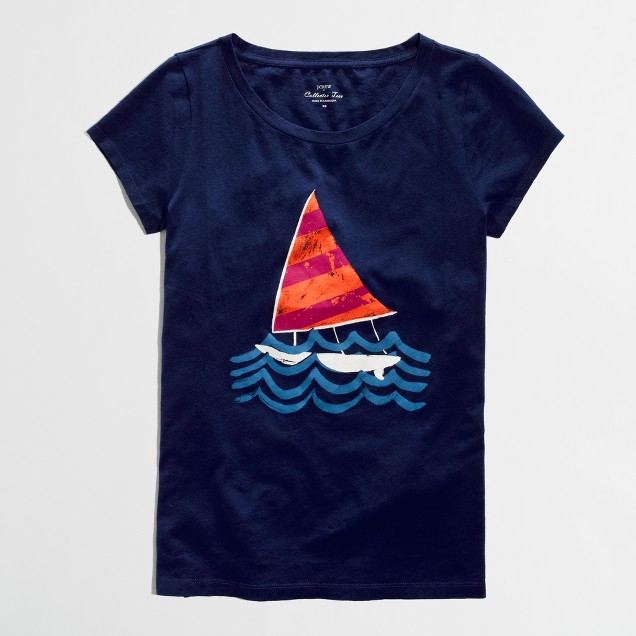 Factory sailboat collector tee