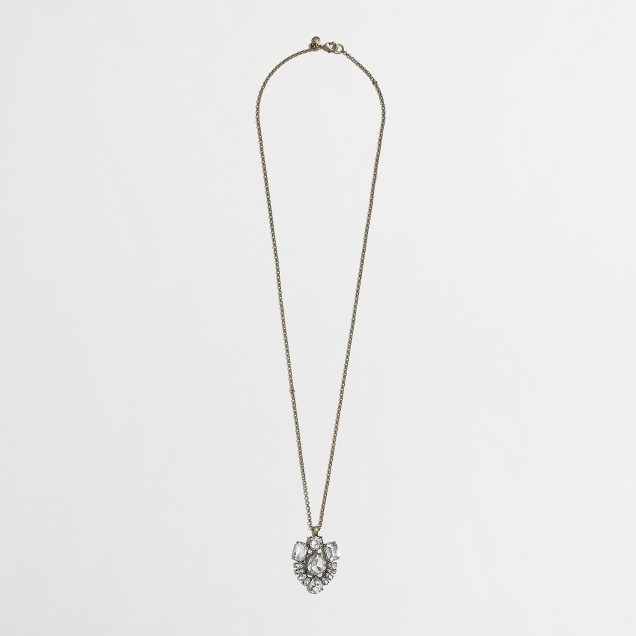 Factory crystal pendant necklace